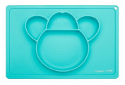 Prippie Baby Silicone Feeding Placemat, for Babies, Toddlers and Kids, 100% Food Grade Silicone, BPA Free, Dishwasher Safe - Monkey