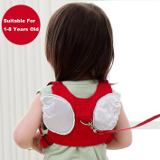 Baby Safety Harness Backpack, Kids Toddler Anti-lost Belt, Toddler Child Strap, Angel Wings Strap Backpack with Safety Leash
