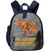 A Brown Yellow Camouflage Elephant 17 School Bookbags For Children, Floral Backpack College Bags Daypack