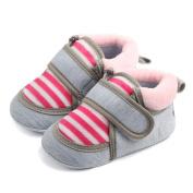 Vmree Baby Outdoor Stripe Shoes Infant Newborn Baby Boy Girl Slip First Walker Boots