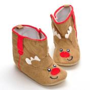 Vmree Newborn Infant Baby Boy Girl Christmas Boot Shoes Soft Sole Anti-slip Boot