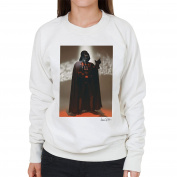 Star Wars Behind The Scenes Darth Vader White Women's Sweatshirt