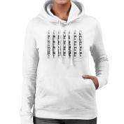 Courtney Love Film Strip White Women's Hooded Sweatshirt