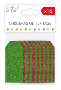 Trimcraft Simply Creative Christmas Basics - Toppers Merry Christmas Red & Green