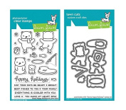 Lawn Fawn Clear Stamp and Die Set - Beary Happy - Two Item Bundle