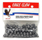 Eagle Claw Removable Split Shot King Pack, 216 Piece