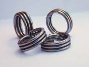 Super Split Rings Triple Wrapped Stainless Steel Select Size Pack of 25 Pieces