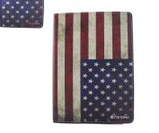 Sanoxy Slim FOLIO Folder PU Leather Stand Case for iPad Air / iPad 5 /5th Generation, Usa Flag