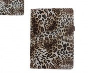 Sanoxy Slim FOLIO Folder PU Leather Stand Case for iPad Air / iPad 5 /5th Generation, Leopard Brown
