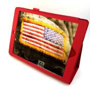 Sanoxy Slim FOLIO Folder PU Leather Stand Case for iPad Air / iPad 5 /5th Generation, Red