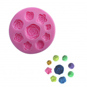 WJSYSHOP Roses Flower Shape Silicone Fondant Mould Cake Decoration Baking Mould – Roses