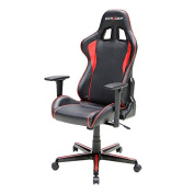DXRacer FH08/NR Black Red Racing Bucket Seat Office Chair Computer Chair Ergonomic with Lumbar Support