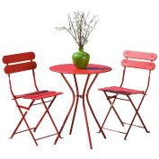 RST Brands Sol 3-Piece Bistro Set, Red