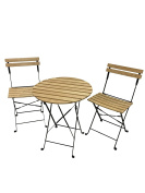 Phat Tommy Outdoor Patio & Garden Aviara Folding Bistro Set – For your Lawn and Backyard Furniture needs