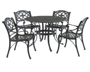 Home Styles 5555-328 Biscayne 5-Piece Outdoor Dining Set, Rust Bronze Finish, 120cm