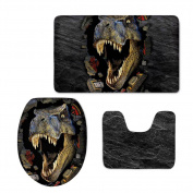 Showudesigns Thick Printing Dinosaur Toilet Seat Cover Soft Warmer WC Mad Pad