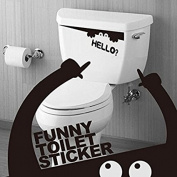 Angelduck Monster Hello Funny Toilet Bathroom Wall Stickers Decal
