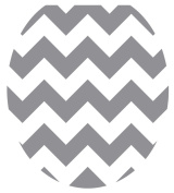 Toilet Tattoos, Toilet Seat Cover Decal,Grey Chevron, Size Round