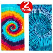 KAUFMAN - Tie-Dye Velour 80cm x 150cm - Beach Towel Set