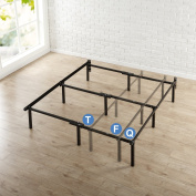 Zinus 30cm Compack Bed Frame, for Box Spring & Mattress Sets, Extra High so Bed Risers not needed, Fits Twin to Queen