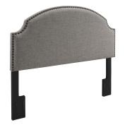 Dorel Asia Skylar Nailhead Linen Padded Headboard, Full/Queen, Grey