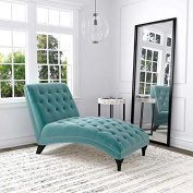 Ursula Fabric Chaise Lounge - Turquoise