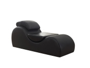 US Pride Furniture Relaxation Stretch Chaise and Yoga Chair, Black