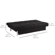 Best Choice Products Microfiber Futon Folding Sofa Bed Couch w/ Mattress & Storage Sleep Recliner Lounger