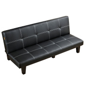 Sofa Bed, Modern Convertible Futon Sofa Bed With Wood Legs Quickly Converts into a Bed by CloudWave