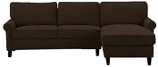 Lifestyle Solutions LK-MCLS2XM3045 Manchester Sectional Sofa, Chocolate
