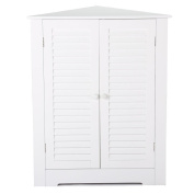 Topeakmart Home Fashions Corner Cabinet with Doors