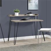 Altra Furniture Haven Retro Desk with Riser, Sonoma Oak/Gunmetal Grey