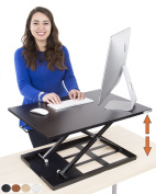 Standing Desk - X-Elite Pro Height Adjustable Desk Converter - Size 70cm x 50cm Instantly Convert any Desk to a Sit / Stand up Desk
