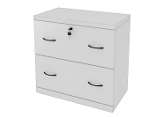 Z-Line Designs 2-Drawer White Lateral File, White