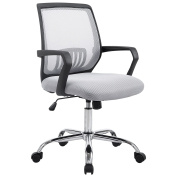 Poly and Bark Gerberding Office Chair in Grey