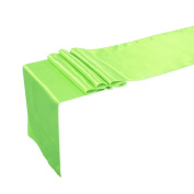 TiaoBug 30cm x 270cm Satin Table Runner Wedding Party Evening Banquet Venue Decoration Apple Green One Size