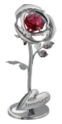 """""""40th Anniversary"""" Silver Flower with Red Crystal Elements by Haysom Interiors"""