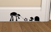 "Star Wars "" Mouse vs ATAT "" Skirting Board Vinyl Decal Sticker Wall Art Vinyl Decal ..UKSELLINGSUPPLIERS"