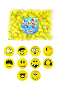 The Harlequin Brand 12 X Moody Face Bouncy Bounce Jet Ball High Quality - Reference Pbf096