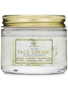 Tea Tree Oil Cream For Oily, Acne Prone Skin 60ml Natural & Organic Facial Moisturiser with 7X Ingredients For Rosacea, Cystic Acne, Blackheads & Redness.
