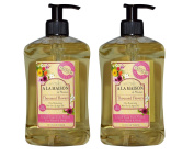 A La Maison de Provence Thousand Flowers Liquid Hand and Body Soap (Pack of 2) With Olive Oil, Argan Oil and Vitamin E, 500ml Each