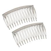 Good Hair Days The Original Grip-Tuth Hair Combs, Set of 2, 40817 Clear 8.3cm Wide