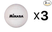 Mikasa 10cm Mini Volleyball, Soft Cover, White, For Dorm Or Office