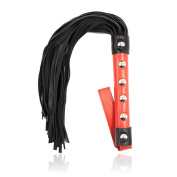 Yufengs Soft PU Leather Flogger for Sex - Whips Crops Adult Toy for Couples Role Play, Costumes, and Cosplay, Black