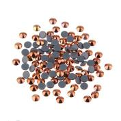 Nizi Nail Rhinestones ROSE GOLD Mixed Sizes of 400pcs Nail Art Strass Shiny Stone Diy Craft Tiny Rhinestone Perfect for Nail art