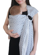Vlokup Baby Ring Sling Carrier for Newborn Original Adjustable Infant Lightly Padded Wrap Breastfeeding Privacy Grey Triangle