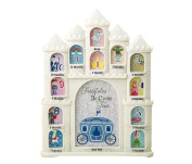 Mozlly White Fairytales Do Come True Castle Baby First Year Collage Photo Frame - Glitter Finish - 30cm x 24cm - Nursery Decor - Item #105030