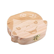 Wooden baby milk teeth box baby souvenirs foetal hair tooth collection wooden case