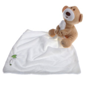 Dovewill Soft Baby Toddler Lovely Security Buddy Blanket New Born Gift - White, as described