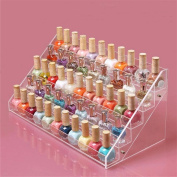 Sooyee Acrylic 5 Layer Nail Polish Rack Tabletop Display Stand Holds Up 72 Bottles,15.7x 7.20cm x 19cm ,Pack of 1